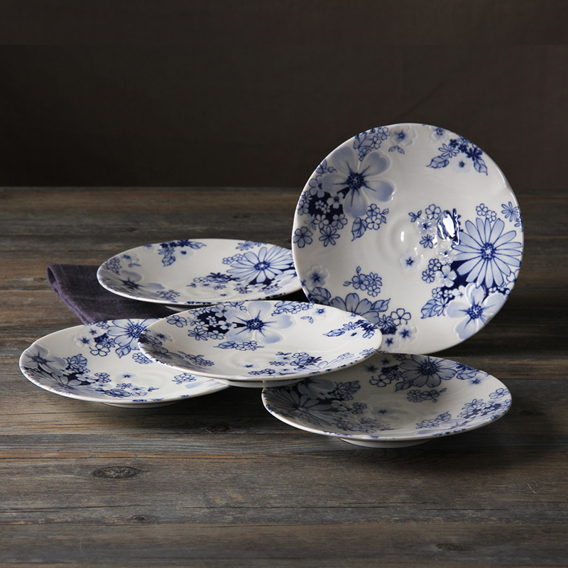Pretty White Dishes With Blue Flowers Contemporary Images For
