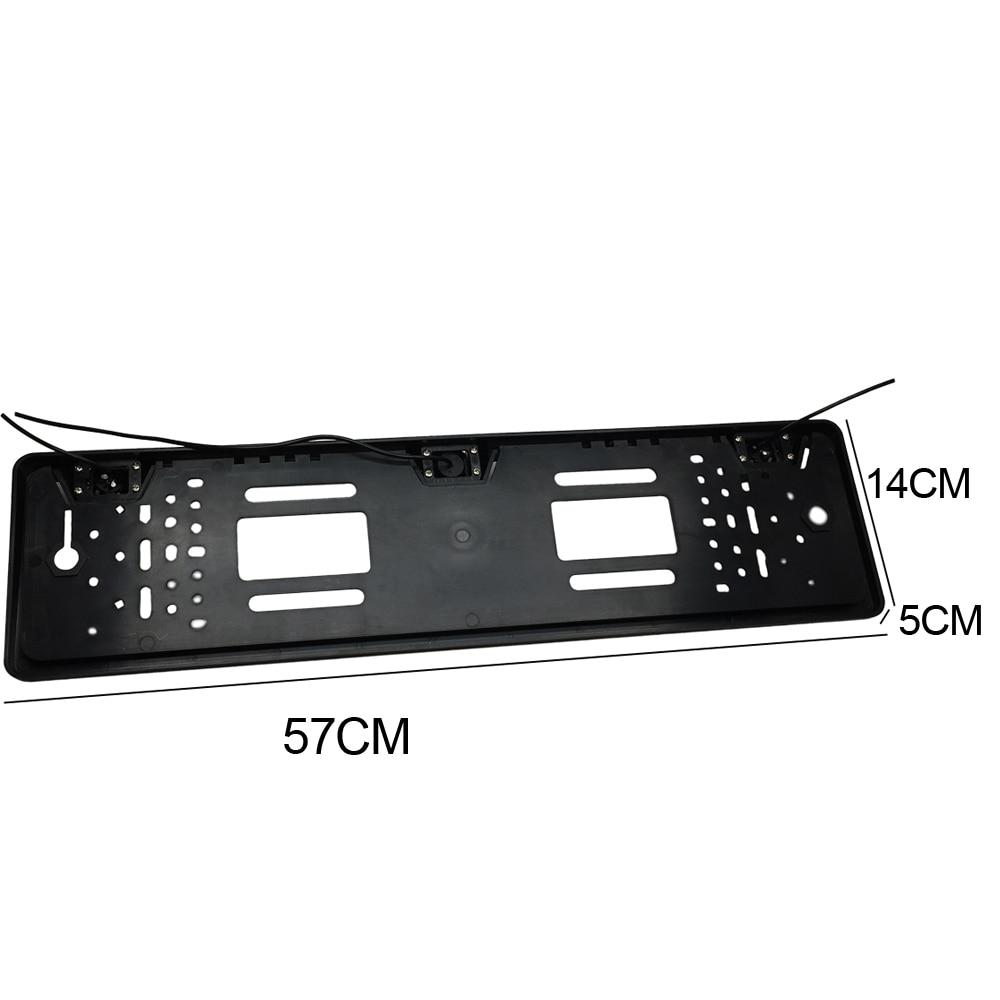 CCD HD tahavaatekaamera auto Euroopa numbri raami kaamera Light LED - Autode Elektroonika - Foto 2