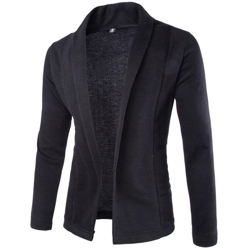 2017 Solide Stilvolle Jacke Männer Casual Slim Fit Mäntel Schwarz Weiß Grau Outwear One Button Anzug Mantel Jacken Top Wasserdicht, StoßFest Und Antimagnetisch