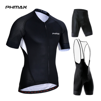 PHMAX 2019 Pro Short Sleeve Cycling Clothing Mountain Bicycle Cycling Clothes 100% Polyester Breathable Cycling Jerseys Set