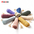 2017 Four Seasons Womens Fashion Cotton Linen Wrinkled Long Scarf Shawl Wrap Ladies Neck Circle 185*95cm Scarves Scarf Cover Up