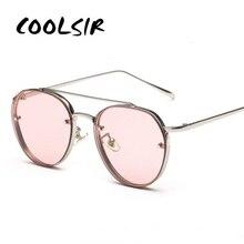 COOLSIR Newest Yellow Green Pink Ocean Sunglasses Women Fashion Summer Style Steam Punk Metal Sun Glasses Men uv400 Lentes De