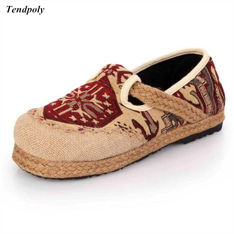 New Old Beijing cloth shoes comfortable soft bottom retro middle-aged elderly embroidered leisure Women's shoes national style