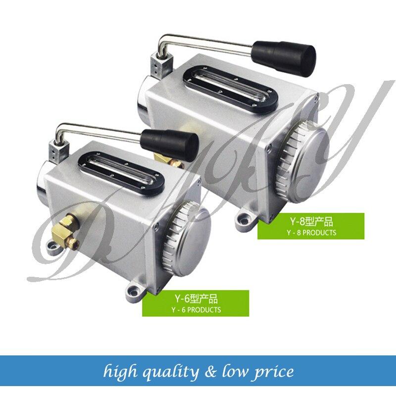 Buy Hand pump oil pump Y-6/Y-8 lubrication pump punch pump oil machine CNC machine oiler