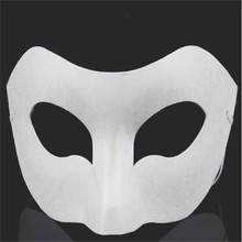 DHL Freeshipping 100pcs White Unpainted Face Plain/Blank Paper Pulp Mask