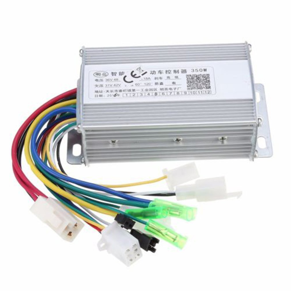 36V/48W 350W Waterproof Design Brush Speed Motor Controller For Electric Scooter Bicycle E-Bike Tricycle Controller