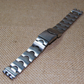 17/20mm Sliver  full metal stainless steel butterfly claps strap for Swatch   IRONY YAS