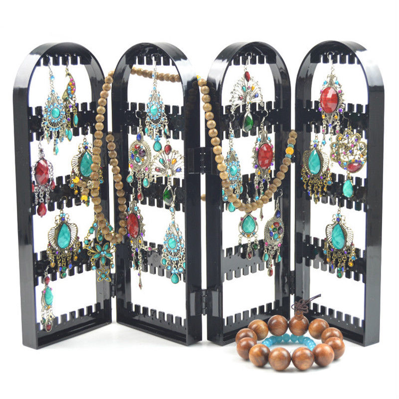 Jewelry Display Jewelry Organizer Earring Organizer Acrylic Jewelry Holder Makeup Ear Stud Display Jewelry Organizer Black Color