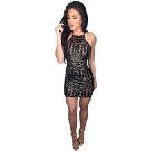 Sequins Sleeveless Spaghetti Strap Dress Bodycon Summer Backless Square Collar Sexy Short Dresses for Women Black Dress Women