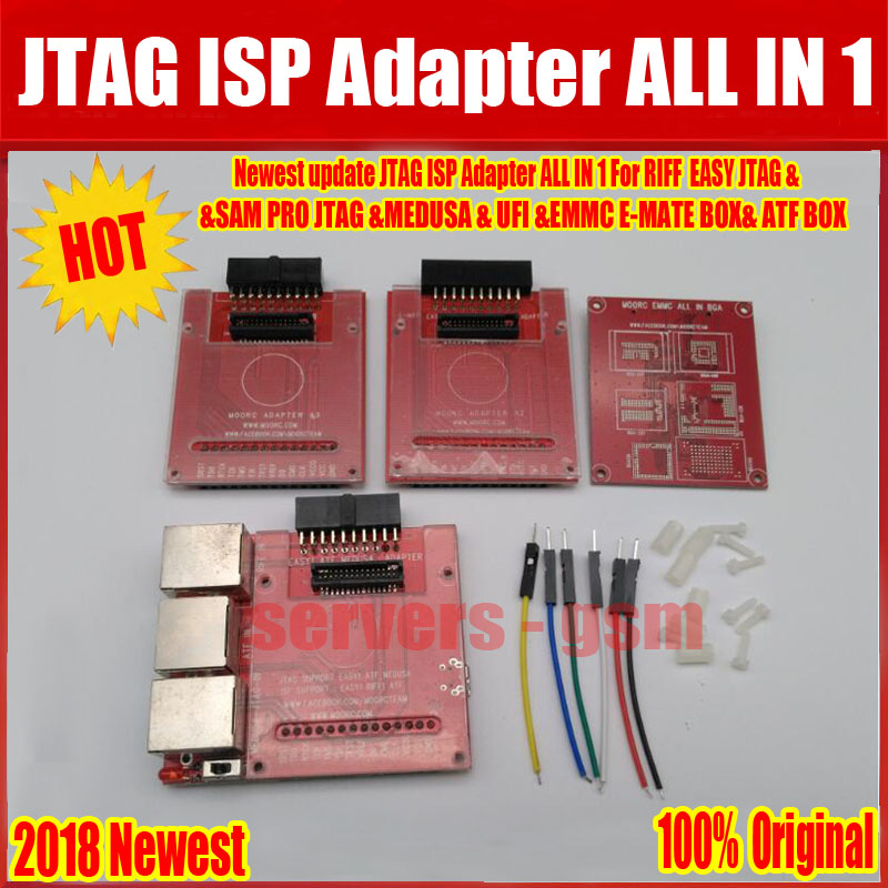 In Style; 2019 Newest Version 100% Original Jtag Isp Adapter All In 1 For Riff Easy Jtag Sam Easy Jtag Medusa Emmc E-mate Box Atf Box Free Fashionable