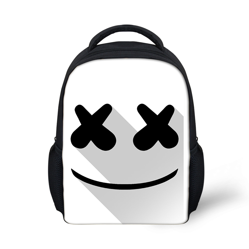 865ba5053726 Cute Cartoon Marshmello Small Backpack for Teen Girls Boys Shoulder Bag  Creative Travel Mask DJ Women