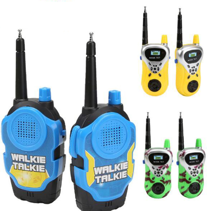 2Pcs Children Phone Toy Walkie Talkies Electronic Gadgets Battery Operated Radios Wireless Walkie Talkies Intercom Talking Toy