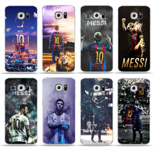Купить с кэшбэком Soccer Player Messi Cover Phone Case For SamSung S6 S7 Edge S8 S9 Plus J5 J7 A5 Soft TPU Silicone Cover for SamSung A6 Plus Case
