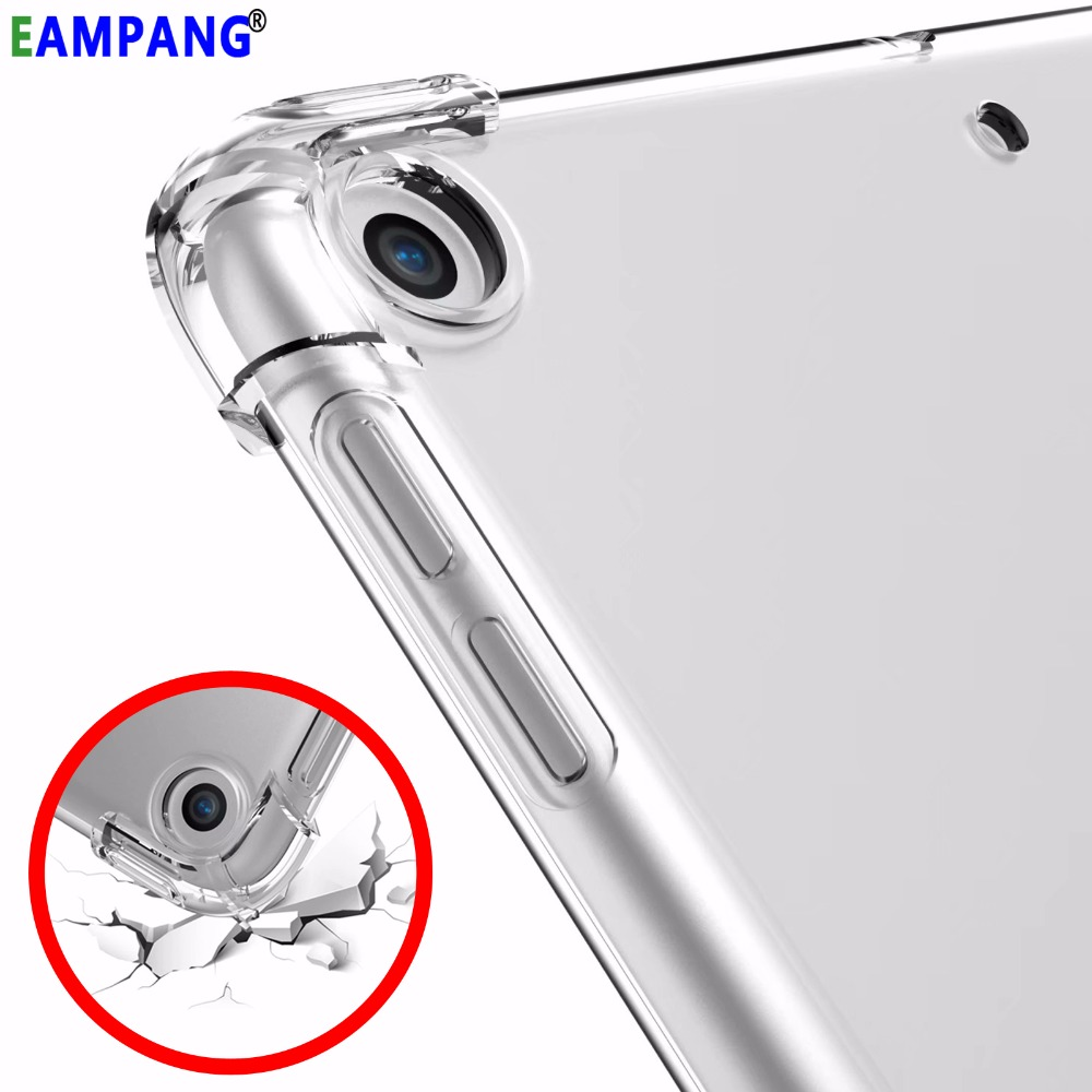 eAmpang Clear Drop Resistance Silicon Cover Case for Apple iPad 2 3 4 2018 Air 5 6