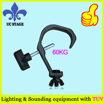 20pcs/lot aluminum stage Light hook, Light clamp for 30-50mm tube,60KG Weight