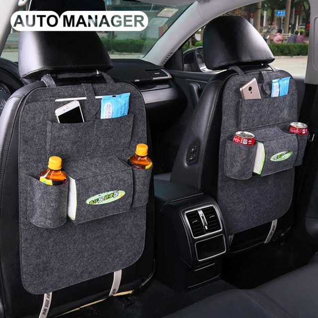 New Design Seat Back Storage Bag for Auto Organizer Hanger Box Car Styling Back Seat Cover Universal