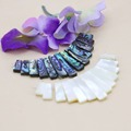 13parts Ladder Short Necklace white Natural Abalone seashells sea shells loose beads diy Design making jewelry women girls gifts