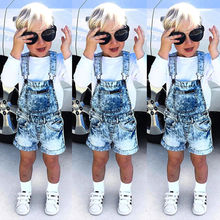 Nwt Kids Baby Girl Boy Deinm Bib Pants Shorts Overalls Romper Outfits Clothes AU