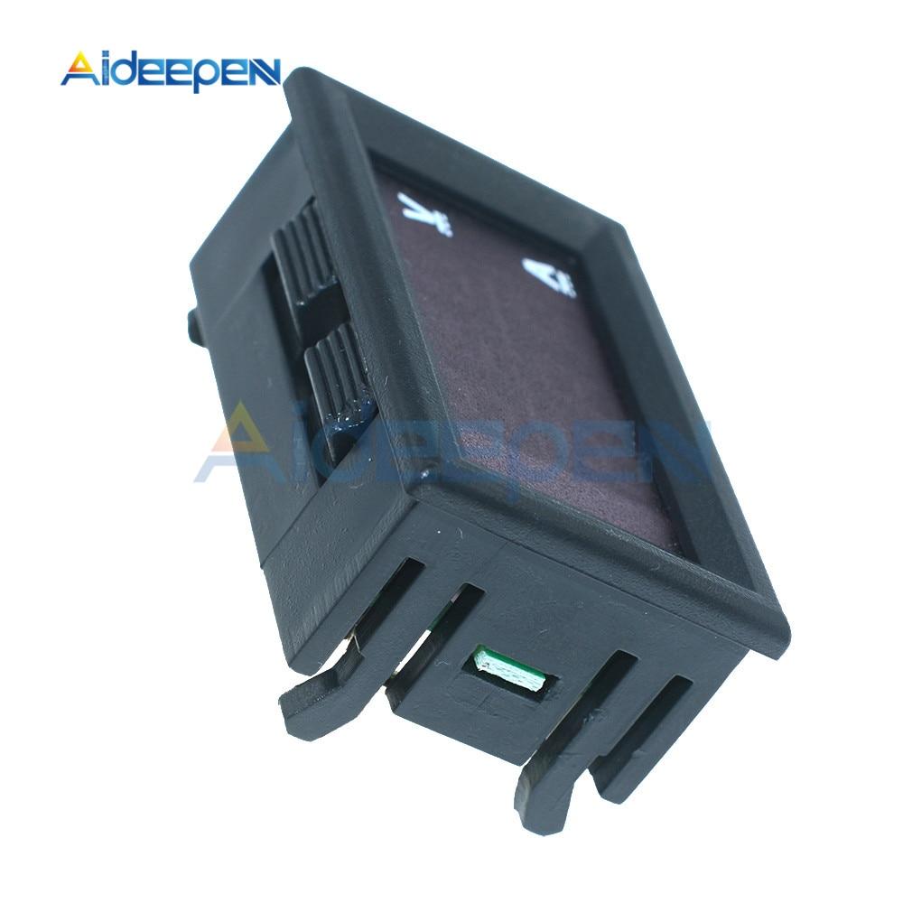 """Mini Digital Voltmeter Ammeter DC 100V 10A Voltmeter Current Meter Tester 0.28"""" 0.28 inch Blue+Red LED Amp Dual LED Display 11"""