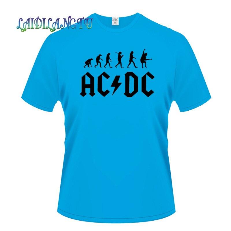 2018New Camisetas AC DC band rock T Shirt Mens acdc Graphic T-shirts Print 9c860554dac