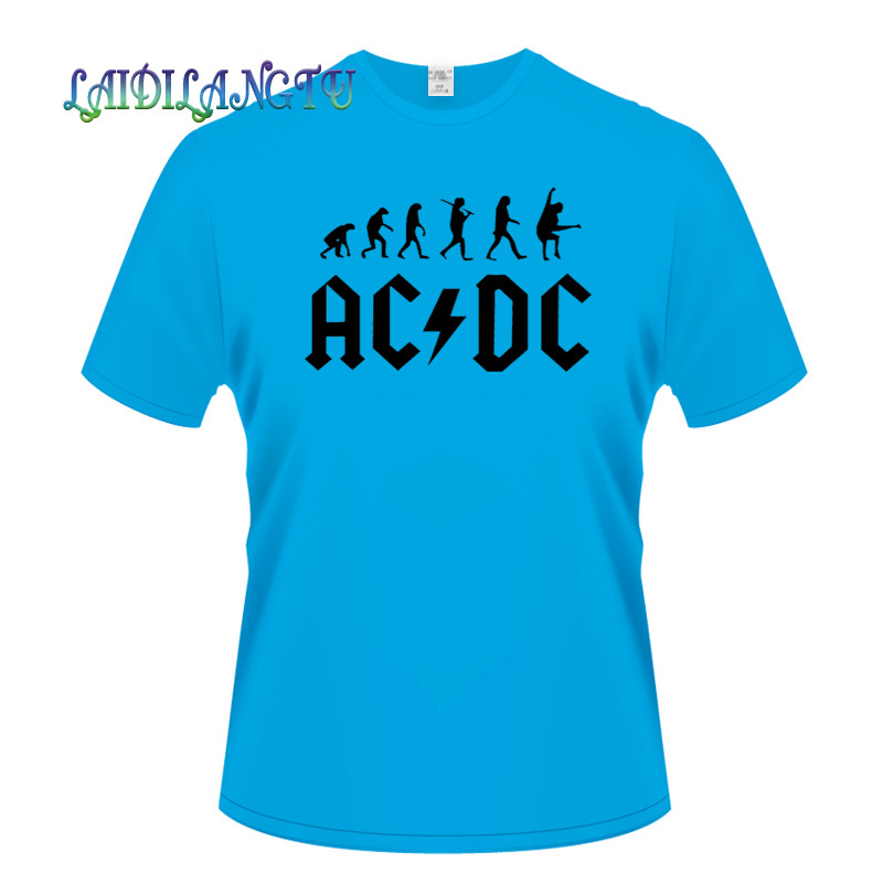 best sneakers 35a22 0007c 2018New Camisetas AC/DC band rock T Shirt Herren acdc Grafik T-shirts Print  Lässige T-shirt O Hals Hip Hop kurzarm baumwolle Top