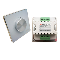 New 2pc Lot Manual Knob Volume Panel Ceiling Speaker Volume Controller Impedance 86mm Wall Mount 7