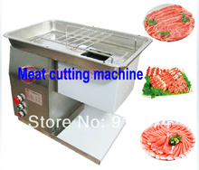 Fast Free shipping electric desktop stainless steel meat cutter slicer meat cutting machine