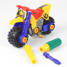 2019 New Kids Child Disassembly Assembly Cartoon Motorcycle Toy Birthday Gift Plastic Toys for Children Child Toy Vehicles