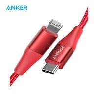 Кабель Anker USB C для Lightning, сертифицированный Mfi, кабель Powerline + II с нейлоновой оплеткой, для iPhone 11/11 pro/X/XS и т. д., поддерживает доставку питания