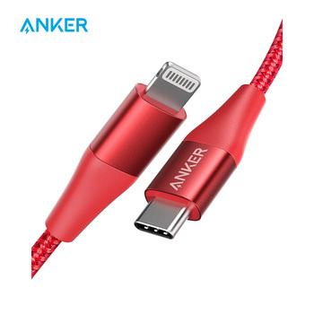 Anker USB C to Lightning Cable,Mfi Certified,Powerline+ II Nylon Braided,for iPhone 11/11 pro/X/XS etc, Supports Power Delivery