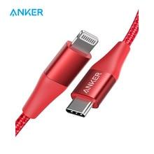 Anker Usb C Bliksem Kabel, Mfi Gecertificeerd, Powerline + Ii Nylon Gevlochten, voor Iphone 11/11 Pro/X/Xs Etc, Ondersteunt Power Levering