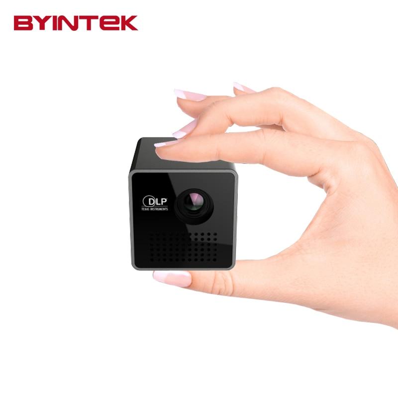Byintek UNIC P1 de Vídeo USB Micro DLP Mini Proyector Inteligente Proyector Inte
