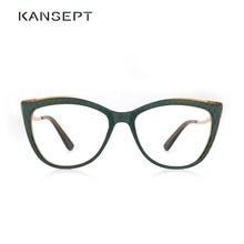 Acetate Women Spectacles Optical Lens Glasses Women Myopia Green Eyeglasses Frames Trend Fashion Glasses#9015