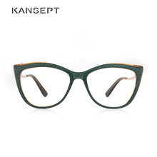 Asetat Kadın Gözlük Optik Lens Gözlük Kadın Miyopi Yeşil Gözlük Çerçeveleri Trend Moda Gözlük #9015