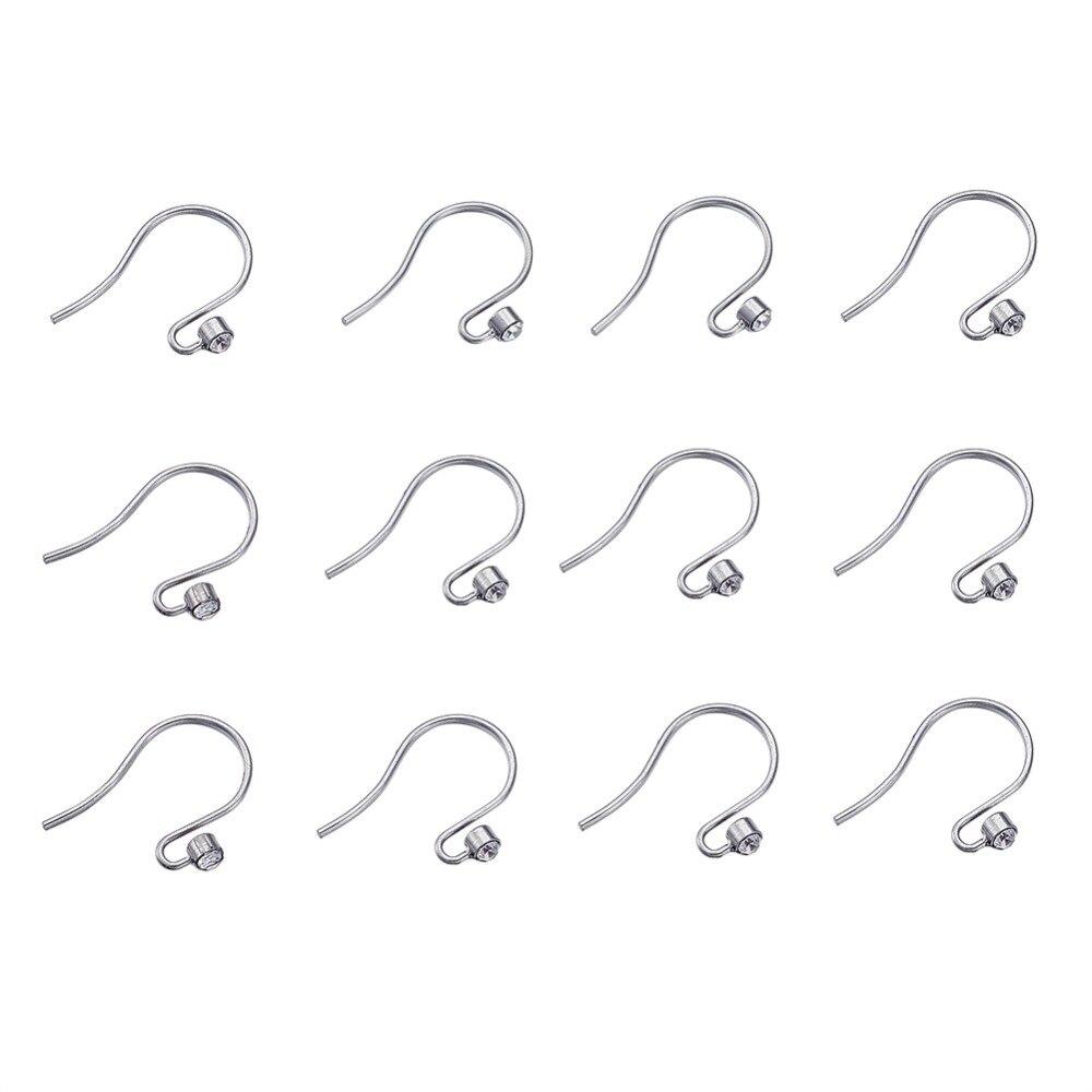 10Pair 19x14.5mm 304 Stainless Steel Rhinestones Earring