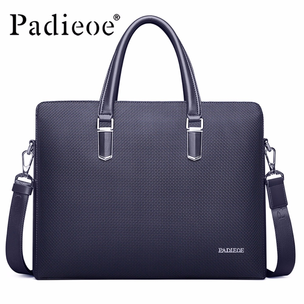 Padieoe Brand Handbag Men Briefcase PVC Shoulder Bags Business Casual Travel Laptop Bag Tote Bag Men's Messenger Bag Free Ship padieoe 2017 men shoulder bags genuine leather briefcase business casual brand handbag men s messenger travel bag free shipping page 3
