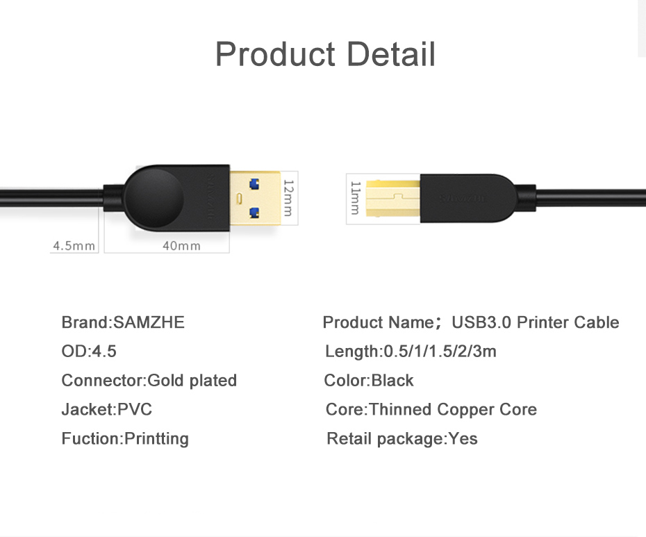 High Quality printer cable
