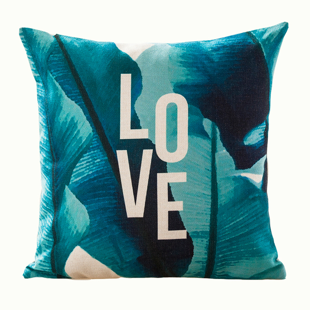 Tropical Faith Palm Cushion Cover  5
