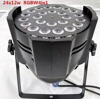 2 шт./светодиодный par 24x12 Вт RGBW 4in1 Quad светодиодный Par может Par64 Светодиодный точечный светильник Освещение сцены DMX света dj лазерный проектор м