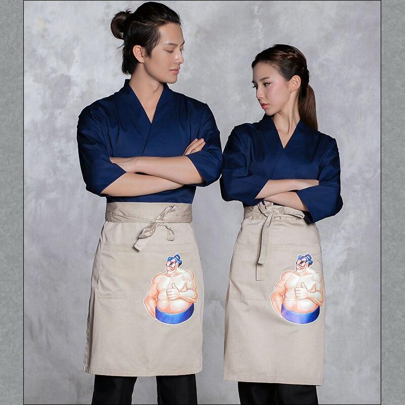 2018 Gratis Verzending Sushi Ober Werkkleding Japanse Restaurant Chef Jas Top Kwaliteit Hotel Receptioniste Kimono