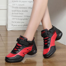 цена на MWY Sports Feature Modern Dance Sneakers Women Soft Outsole Breath Dance Shoes Schoenen Vrouw Jazz Hip Hop Woman Dancing Shoes