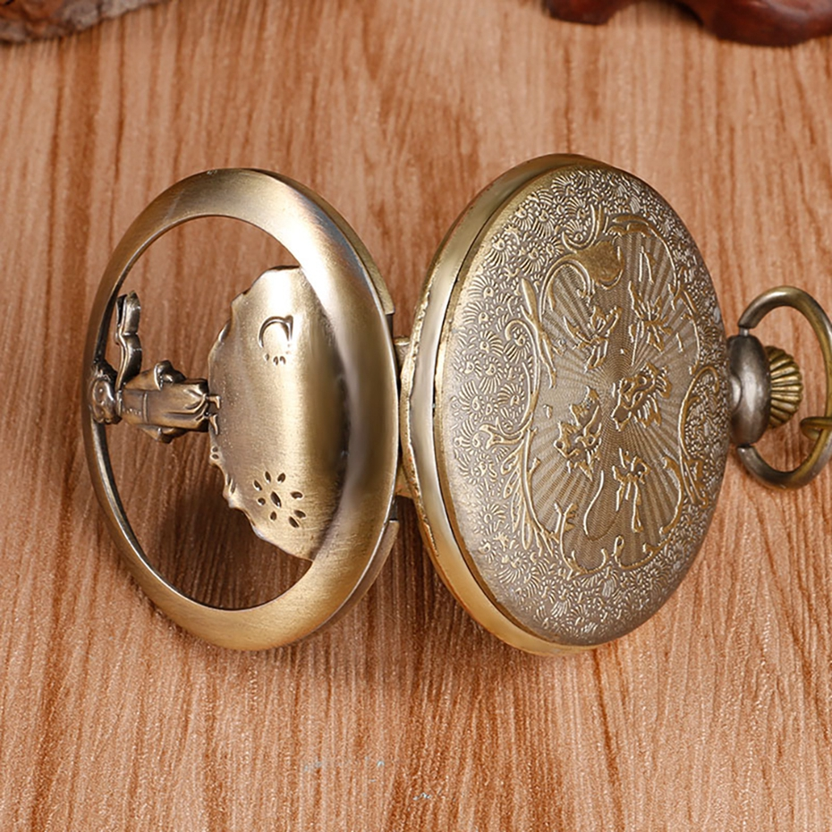 Hot Selling Classic The Little Prince Movie Planet Blue Bronze Vintage Quartz Pocket FOB Watch Popular Gifts for Boys Girls Kids 2019 2020 2021 2022 2023 2024 (6)