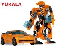 YUKALA Children Robot Toy Transformation Anime Series Action Figure Toy 2 Size Robot Car ABS Model