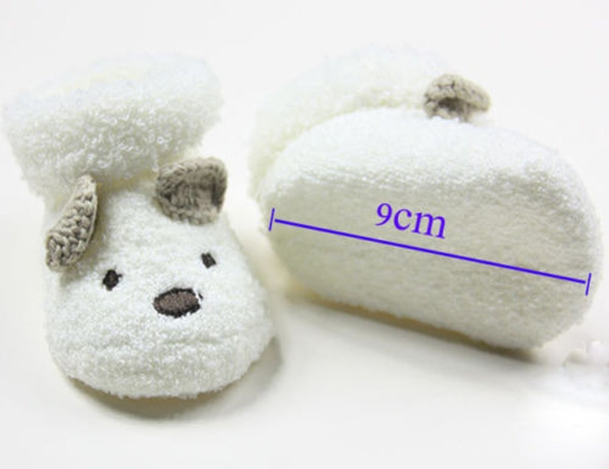Cute Warm Newborn Socks Unisex Baby Infant Bear Crib Kintted Thickening ShoesCute Warm Newborn Socks Unisex Baby Infant Bear Crib Kintted Thickening Shoes