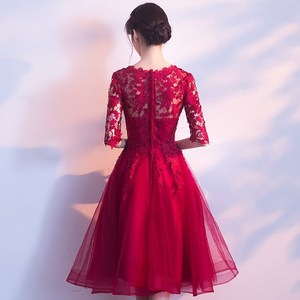 Image 2 - 2020 New Arrival Party Sexy Cocktail Dress Vestidos Short Lace Elegant Gown