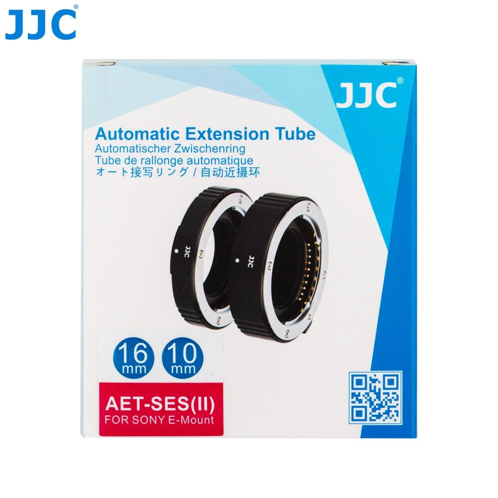 JJC AET-SES (II) 10mm et 16mm Tube d'extension automatique bague adaptateur de mise au point automatique convient à la photographie Macro pour Sony E Mount - 6