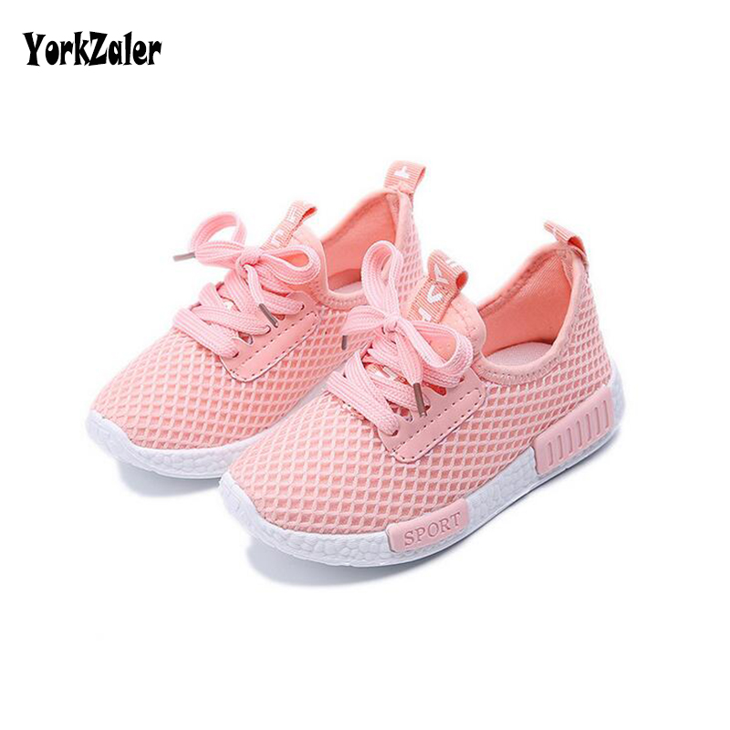 Yorkzaler Spring Autumn Kids Shoes 2017 Fashion Mesh Casual Children Sneakers For Boy Girl Toddler Baby Breathable Sport Shoe kimocat boy and girl high quality spring autumn children s cowboy suit version of the big boy cherry embroidery jeans two suits