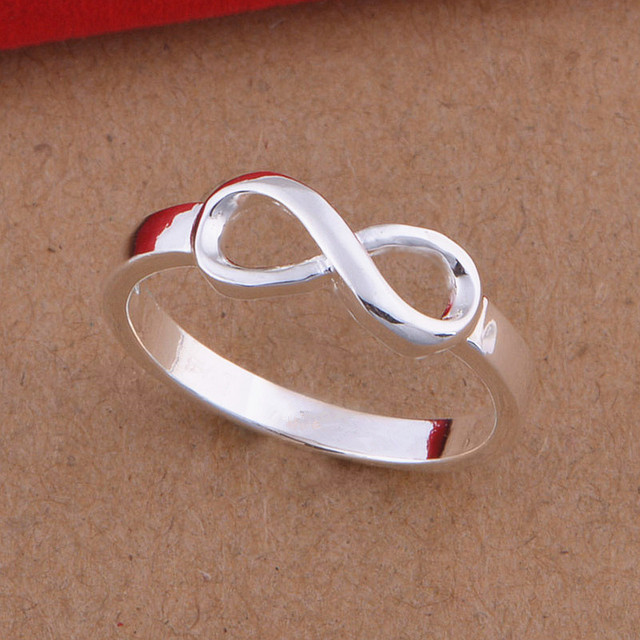 5pcslot 925 Sterling Silver Infinity Rings Best Friend Friendship