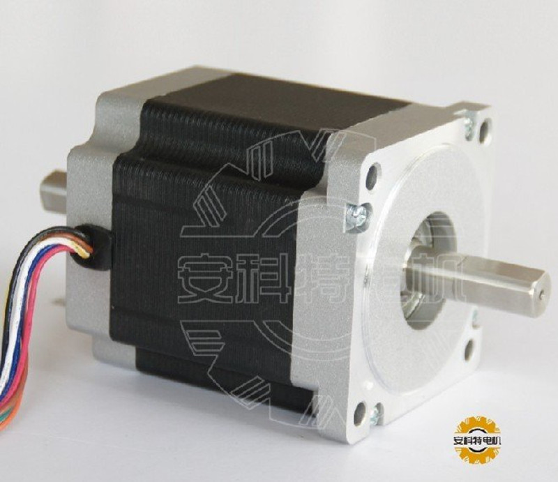 ACT Motor 1PC Nema34 Stepper Motor 34HS9820B 890oz-in 98mm 2A 8-Lead Dual Shaft CE ISO ROHS CNC Router US DE UK IT FR JP Free act motor 4pcs nema34 stepper motor 34hs9820 890oz in 98mm 2a 8 lead single shaft ce iso rohs plastic us ca de uk it fr jp free