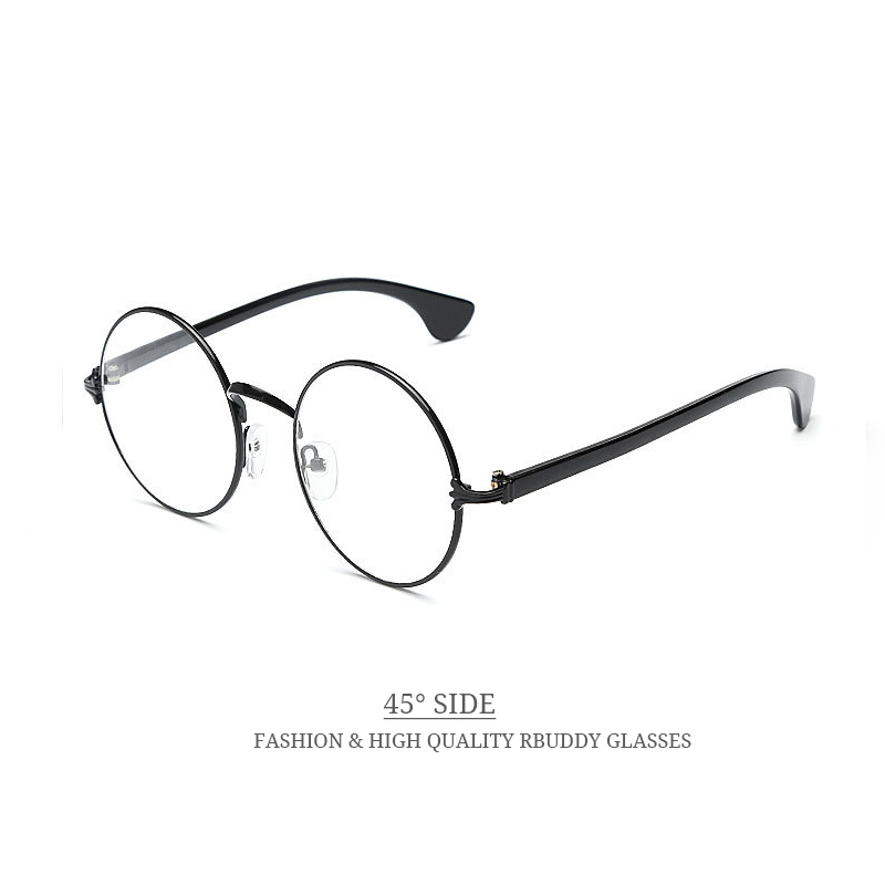 Rbuddy oro ronda gafas con montura de lente clear transparente ...